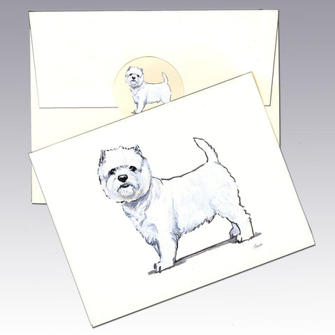 West Highland Terrier 8 Pack Notecards