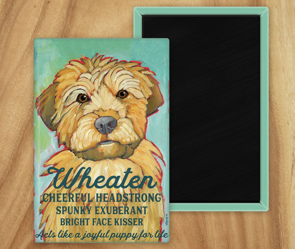 Wheaten Terrier 2 x 3 Fridge Magnet