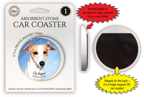 Whippet Absorbent Stone Car Coaster