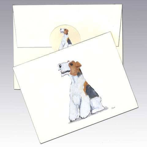 Wire Hair Fox Terrier 8 Pack Notecards