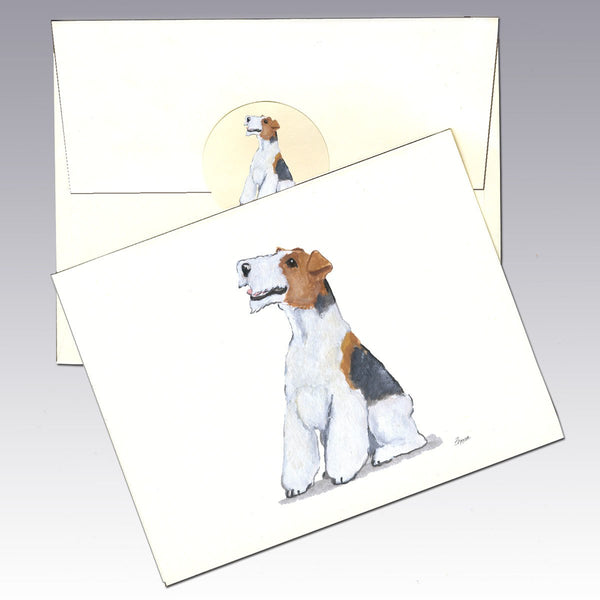 Wire Fox Terrier 8 Pack Notecards