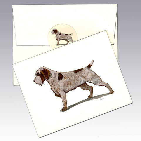 Wire Hair Pointing Griffon 8 Pack Notecards