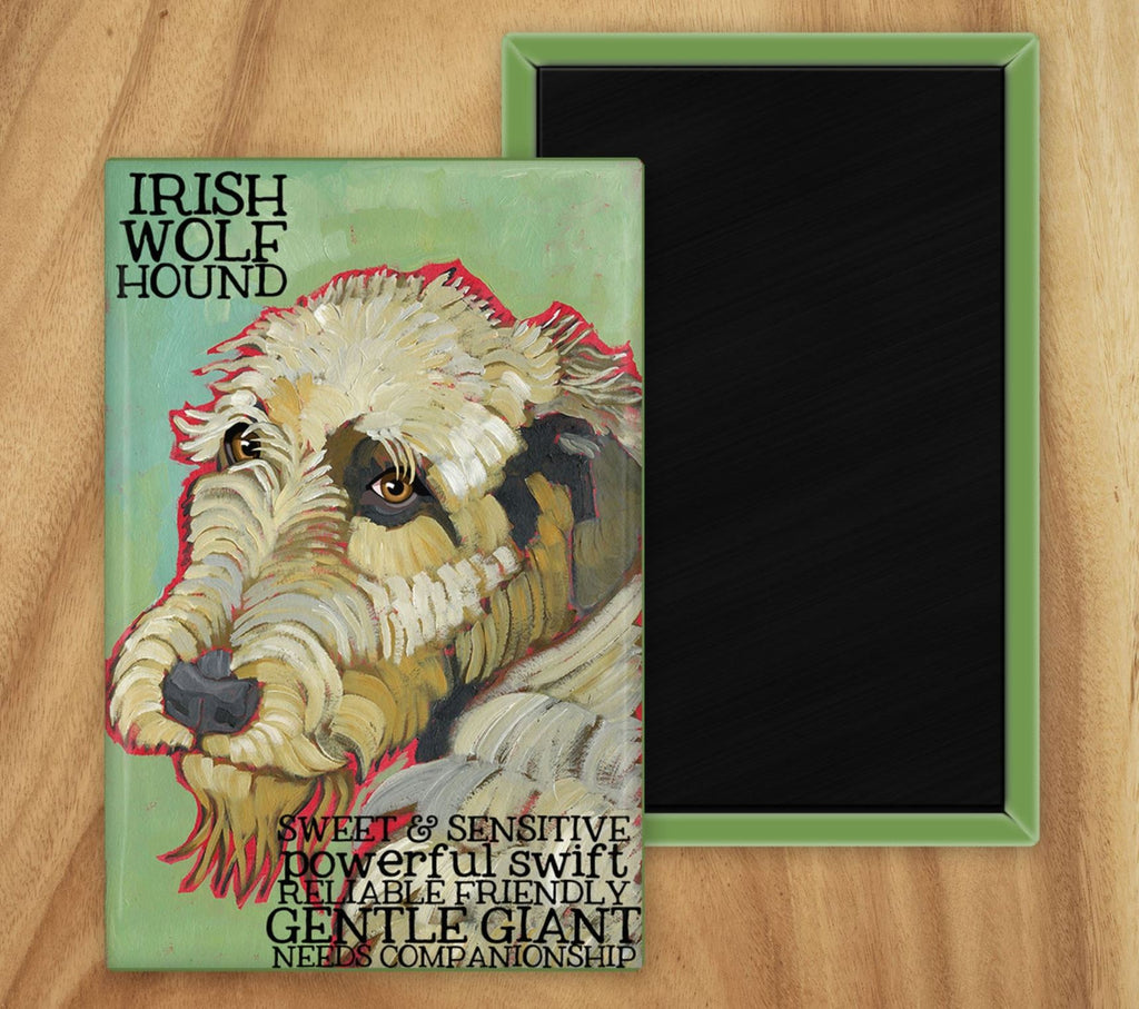 Irish Wolfhound 2 x 3 Fridge Magnet