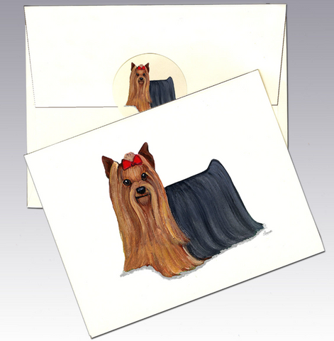Yorkshire Terrier 8 Pack Notecards