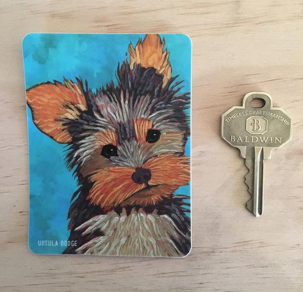 Yorkshire Terrier 3 x 4 Sticker