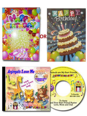 ANY $24.95 CD and a Sing Your Name Birthday Card Gift Set