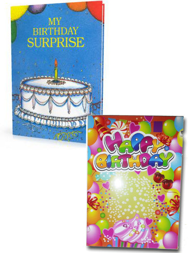 Birthday Book and Sing Your Name Birthday Card