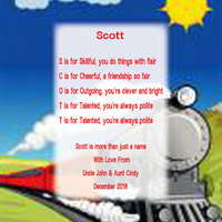 Train Name Poem