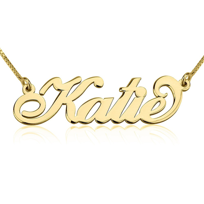 Katie - 24 Karat Gold Plated Name Necklace