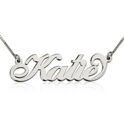 Katie - Sterling Silver Name Necklace