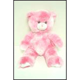 Sing Your Name - Pink & White Long Hair Bear