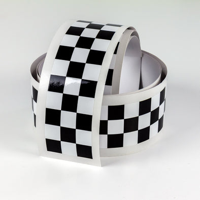 checkered cafe racer stripe