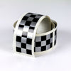 Cafe Racer checkered stripe, 6 cm