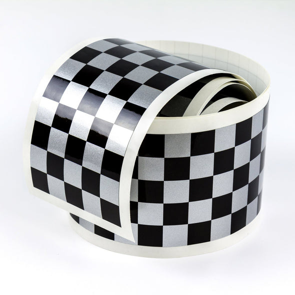 Cafe Racer checkered stripe, 7.5 cm