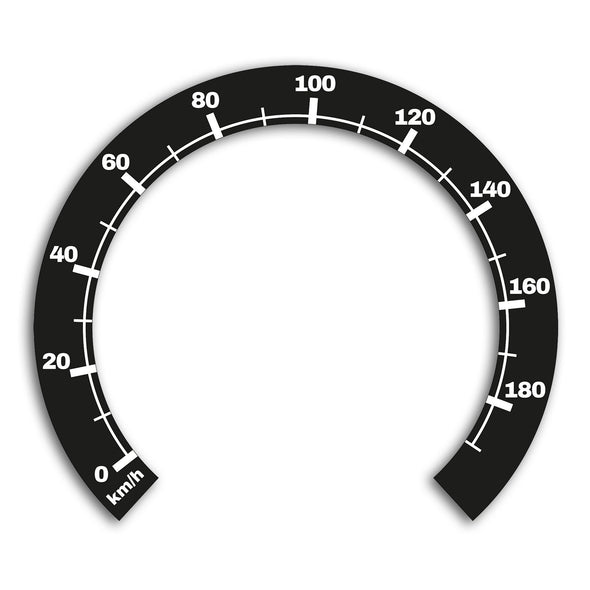Sticker for Harley-Davidson Softail, Dyna & Touring, 1996-2020, 5-inch speedometer