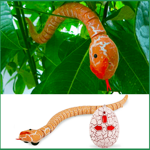 Realistic Remote Control Snake Toy (Assorted Colors)