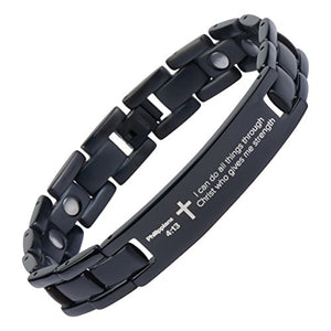 Crosstraxx Philippians 4:13 - Titanium Prayer Bracelet
