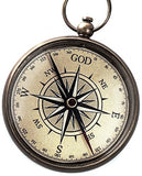God is My Guide Compass with Display Stand--Unique