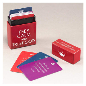 """Keep Calm and Trust God"" Cards - A Box of Blessings"