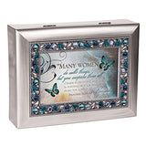 Musical Jewelry Box - Plays On Eagle's Wings with Proverbs 31:29-30""