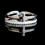 Akiva Sterling Silver Cross Ring