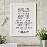 Bible Verse Print Christian Wall Decor Bible Quote