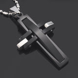 Futuristic Cross Necklace