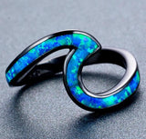 Opal Stone Wave Ring