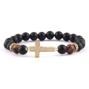Diamond Cross Bracelet
