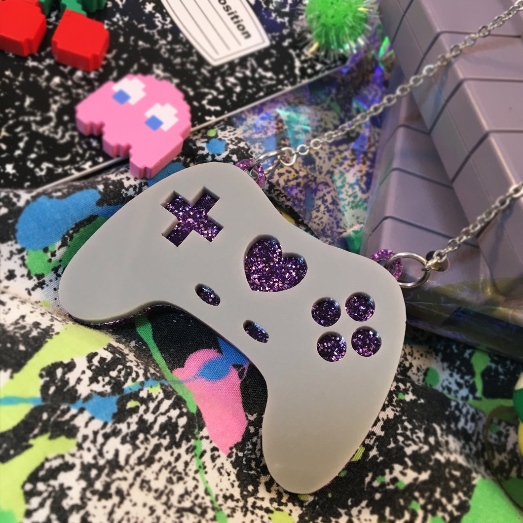 Geeky Glamorous Controller Necklace - Retro