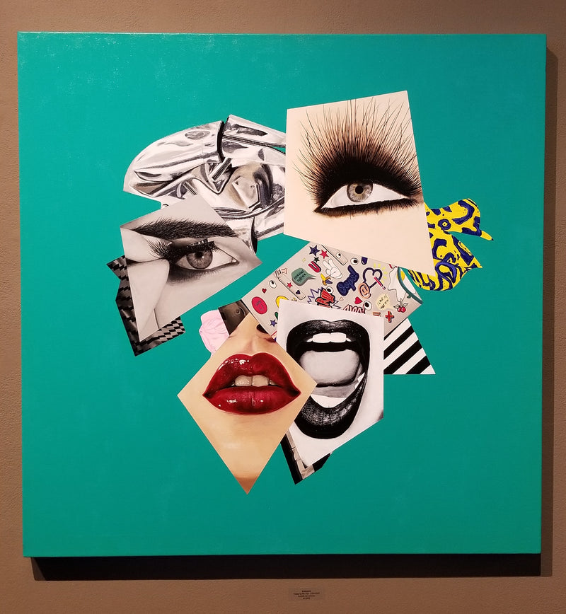 Vakseen Art - Today's the Day I Realized - Vanity Pop - Original 36x36 inch Acrylic Painting