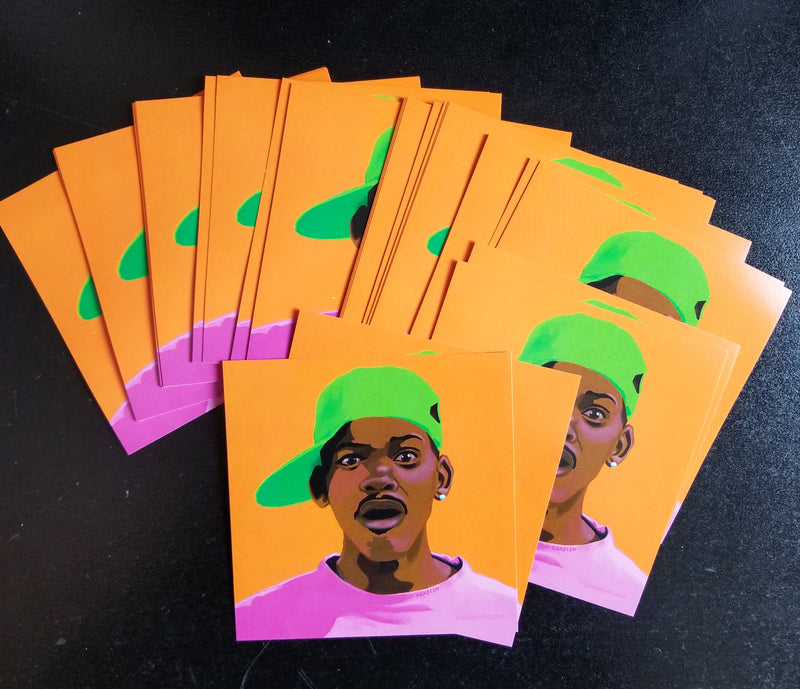 Vakseen Art - FRESHHH -  Fresh Prince of Bel Air Stickers - Custom Art Stickers for Laptops & Walls