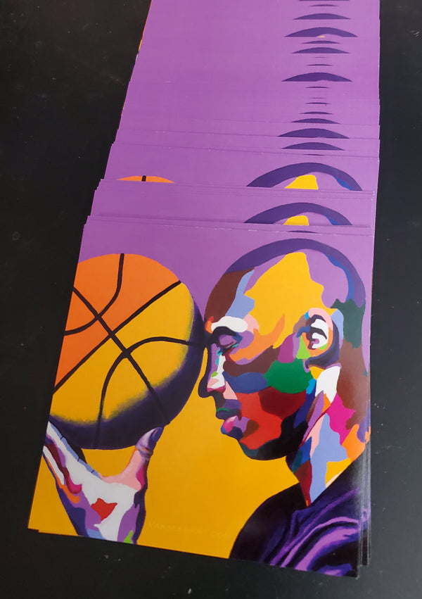 One With The Game - Kobe Bryant portrait art - Custom Art Stickers for Laptop & Wall Decor