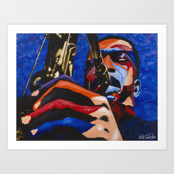 John Coltrane portrait art - Limited Edition Giclee Wall Art Prints & Wall Decor - Vakseen Art