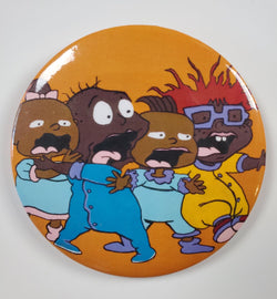 "I Don't Know, Tommy - Rugrats - FOBP 3"" buttons - Custom Pop Art Buttons for Fashion Apparel"