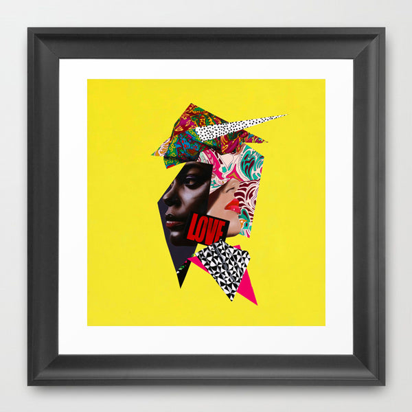 New Madonna - Abstract portrait Art - Vanity Pop - Collage Portrait - Limited Edition Giclee Art Print - Vakseen Art