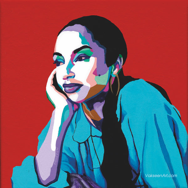 No Ordinary Love - Sade portrait art - Custom Art Stickers for Laptops & Wall Decor - Vakseen Art