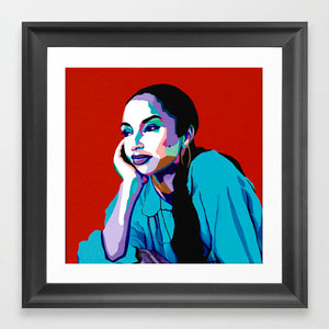 Vakseen Art - No Ordinary Love - Sade portrait art - Limited Edition Giclee Print & Wall Decor