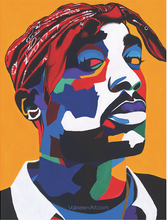 Load image into Gallery viewer, Vakseen Art - Chang3d Man -  2Pac Stickers - Custom Art Stickers for Laptops & Wall Decor