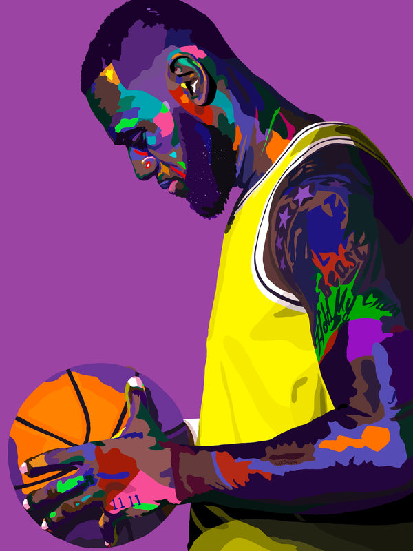 A Love Supreme - Lebron James Portrait - Limited Edition Giclee Art Print & Wall Decor - Vakseen Art