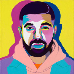 All Me - Drake portrait Art - Original Acrylic Painting & Wall Decor - Vakseen Art