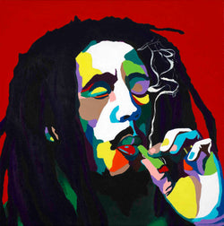Bob Marley portrait art - Limited Edition Giclee Art Prints & Wall Decor - Vakseen Art