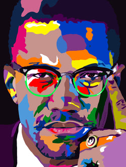 Malcolm X Portrait - Limited Edition Giclee Art Print & Wall Decor - Vakseen Art