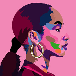 Vakseen Art - By Your Side - Sade portrait art - Limited Edition Hand-Embellished Canvas Art Giclee