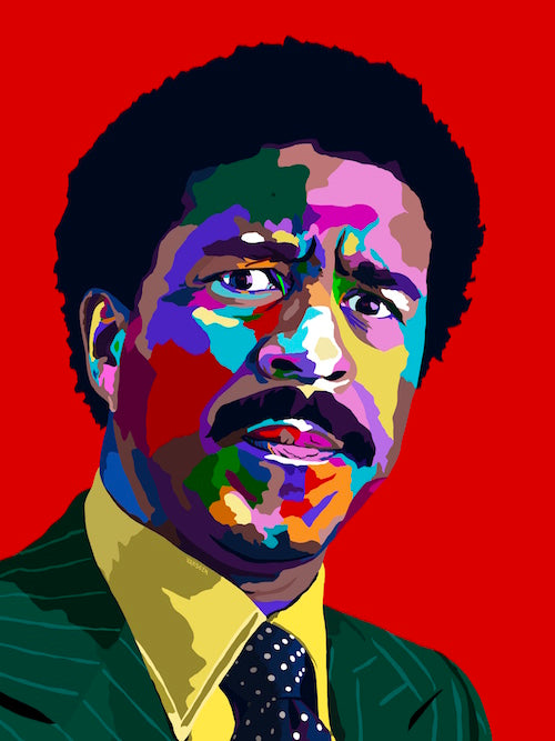 Crazy - Richard Pryor Portrait - Limited Edition Giclee Art Print & Wall Decor - Vakseen Art