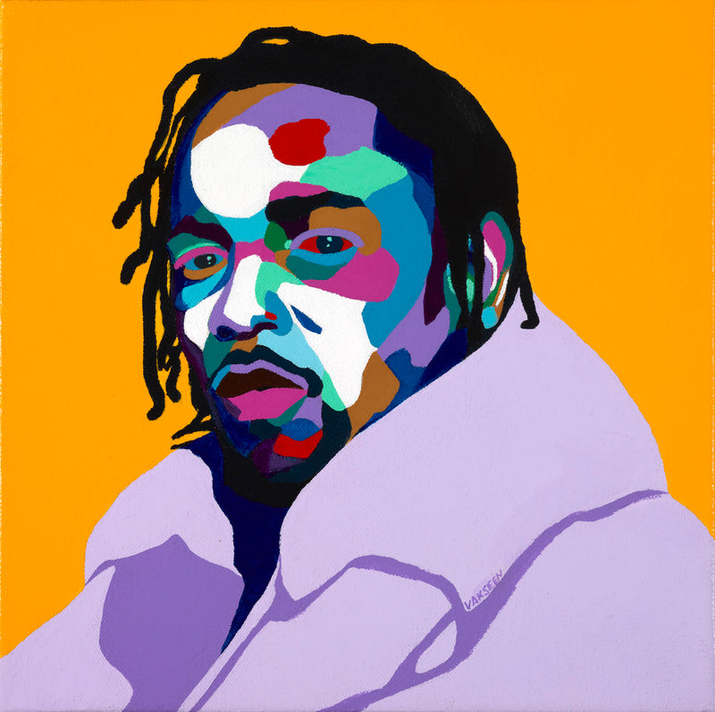 Mortal Man - Kendrick Lamar portrait Art - Original Acrylic Painting & Wall Decor - Vakseen Art