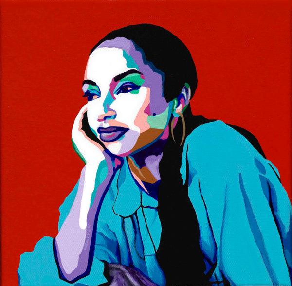 Sade portrait art - Limited Edition Giclee Print & Wall Decor - Vakseen Art