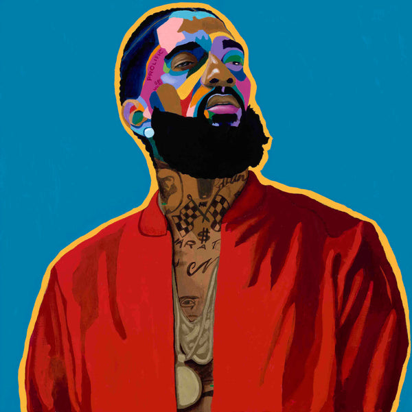 Nipsey Hussle portrait art - Limited Edition Giclee Art Prints & Wall Decor - Vakseen Art