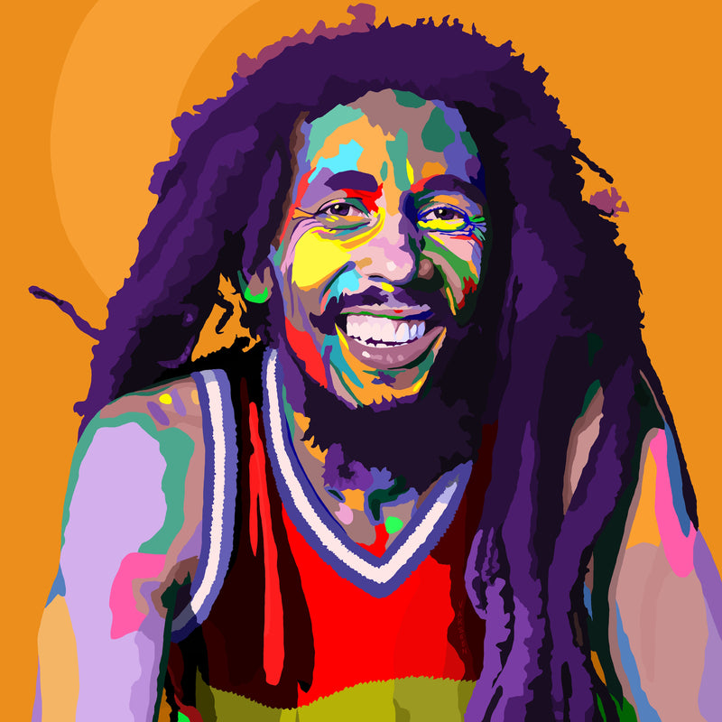 One Love - Bob Marley portrait art - Limited Edition Art Print & Wall Decor - Vakseen Art