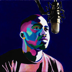 Nas portrait art - Limited Edition Giclee Art Print & Wall Decor - Vakseen Art
